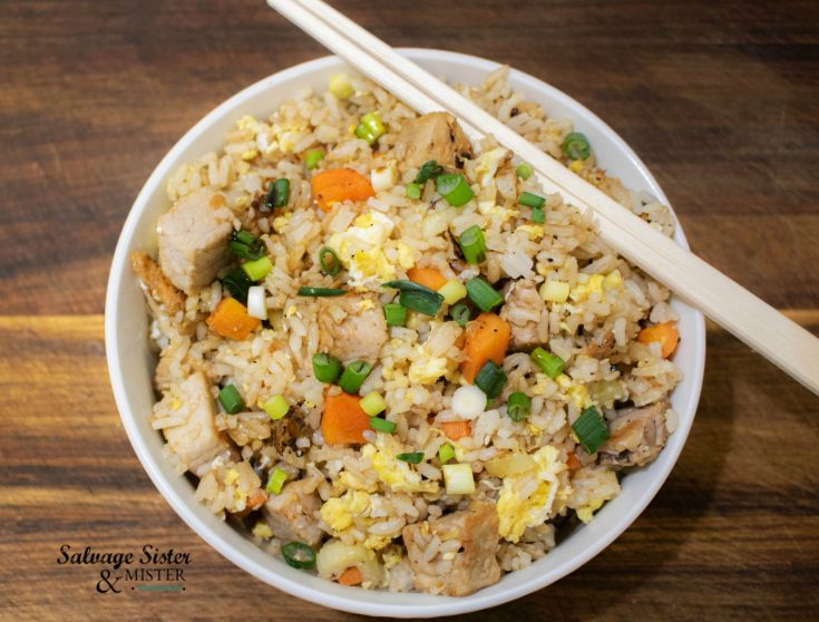 Pork Fried Rice Using Leftovers