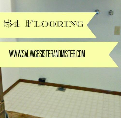 cheap flooring option using Habitat for Humanity ReStore