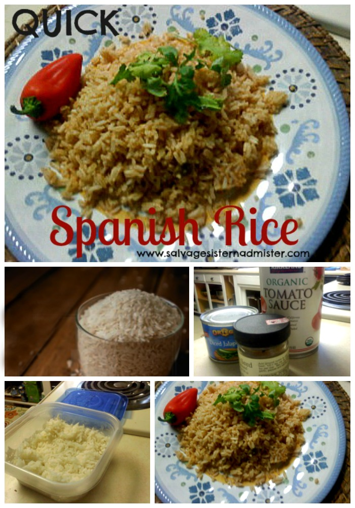 If you have extra rice on hand, this is a great tip to use it up.  Leftover Spanish Rice is an easy way to make use of those leftovers with just pantry ingredients.