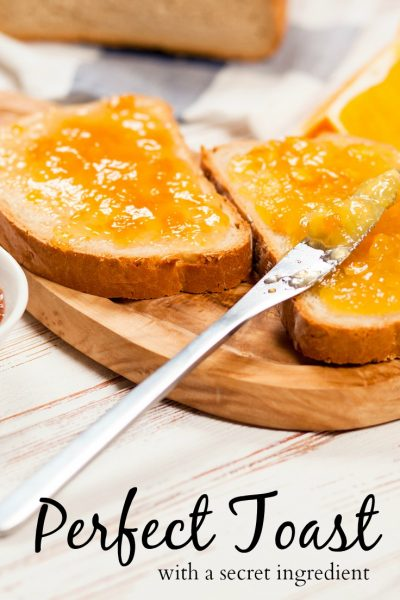 Do you know there are some restaurants that charge ten dollars for toast? There are some tricks to a perfect piece of toast. Plus, a secret ingredient. It may seem simple but if it's done right this can be a really tasty treat. This is not your average piece of toast.