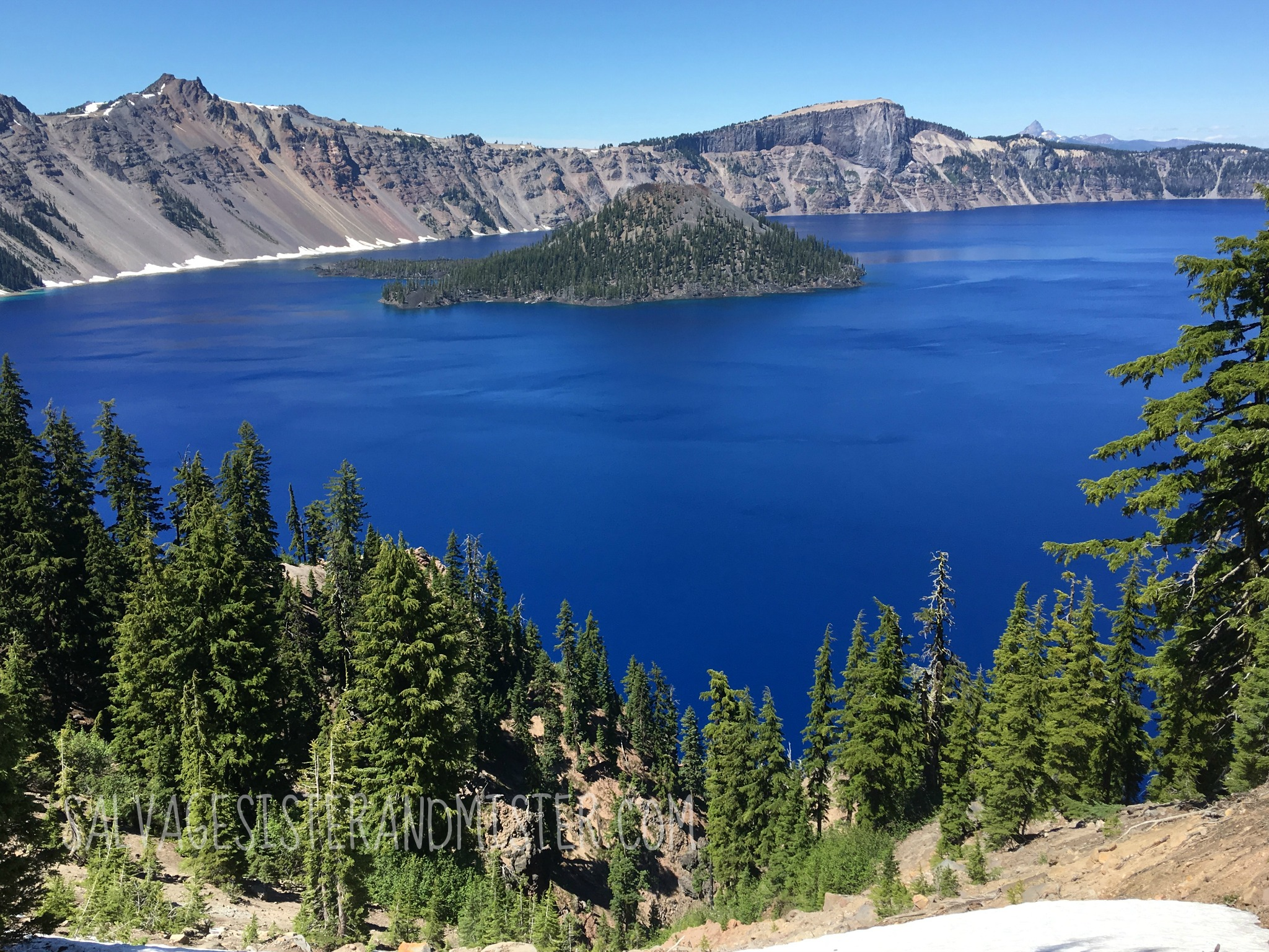 The beautiful Crater Lake in Oregon. It's a must see. Come see more about this beautiful state.