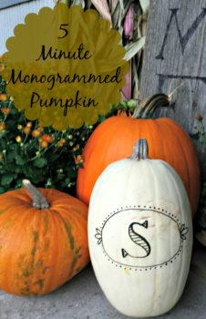 Easy 5 minute monogrammed pumpkin. No special tools or skills needed. www.salvagesisterandmister.com