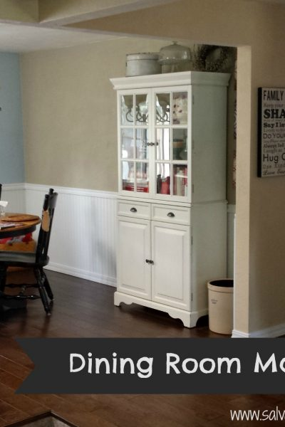 Budget dining room makeover. When you can't do a full remodel there are some low cost DIY projects that will update any space.