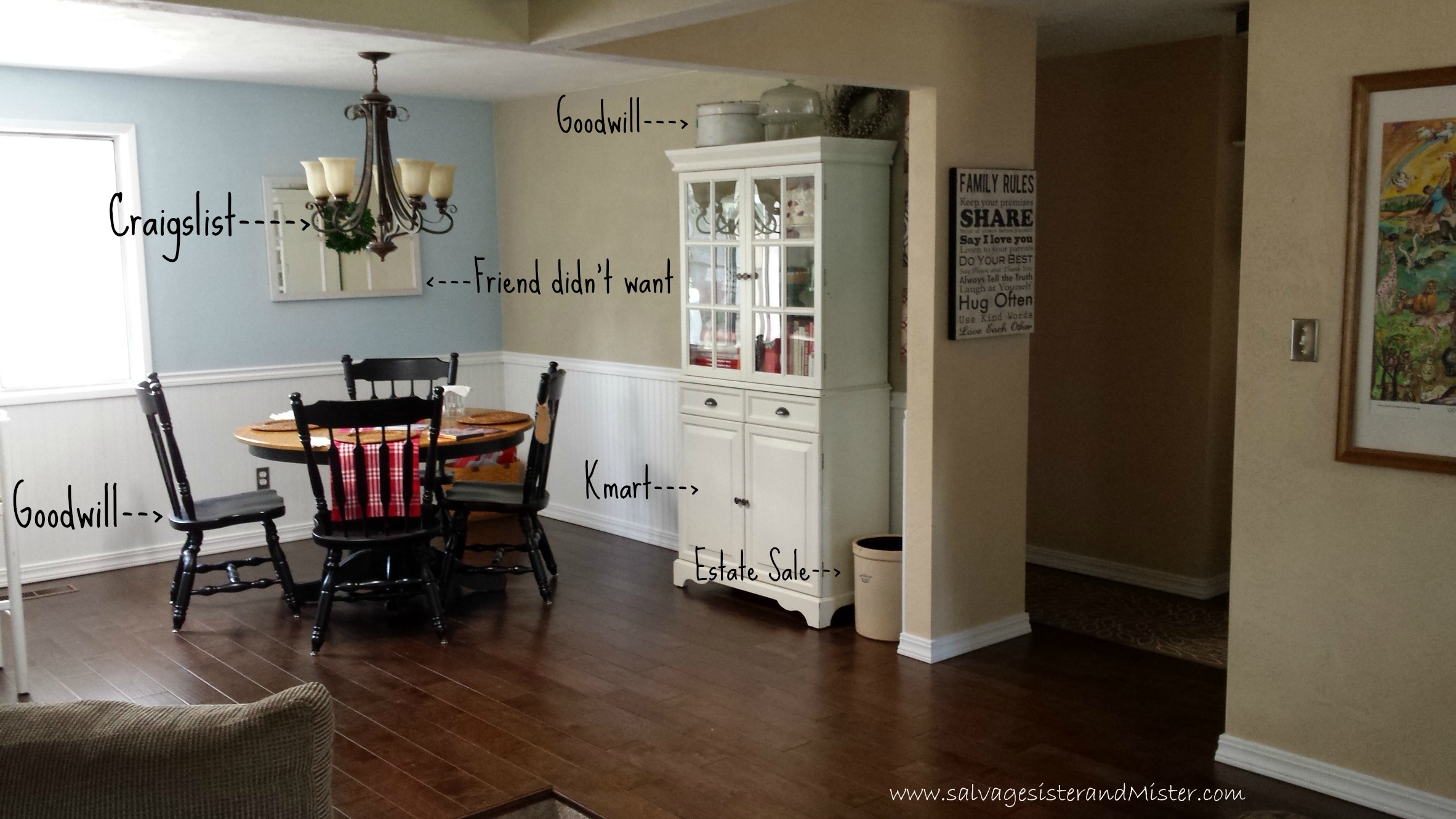 Greatest Dining Room Makeover (On a Budget) - Salvage Sister and Mister UI58