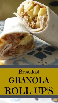 Quick breakfast Granola Roll-Ups This is great recipe to add to your menu plan. It's easy, cusomizable, and kid friendly.