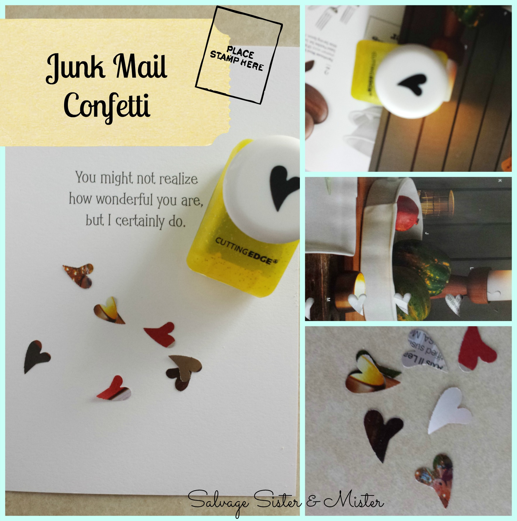 junk mail confetti- turn junk mail into something useful