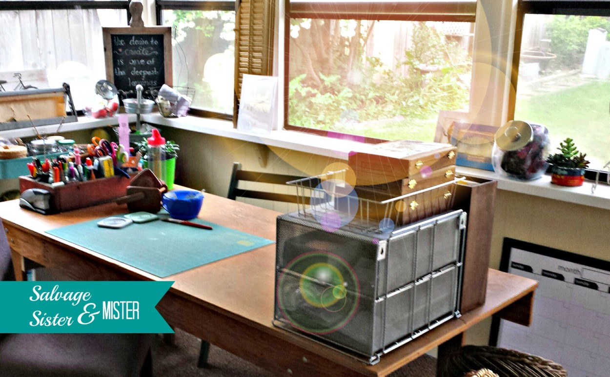 Craft Room Desk: Salvage Sister And Mister