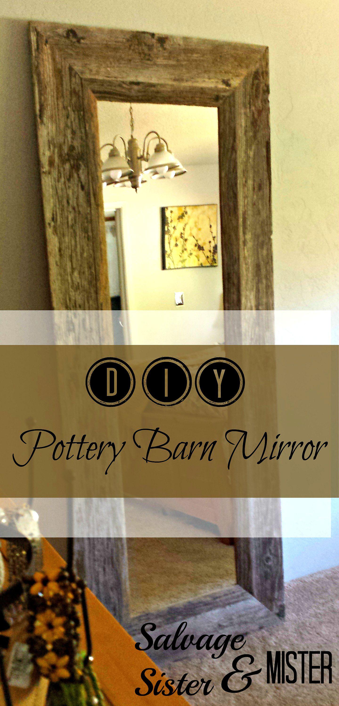 Barn Wood Mirror Rustic Home Decor: Crafting Trash Into Treasure
