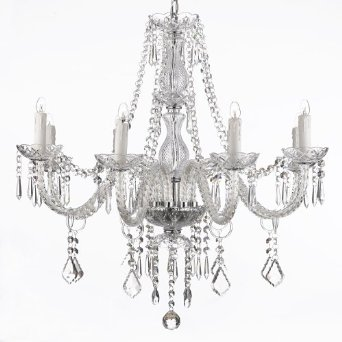 An amazing crystal chandelier.  www.salvagesisterandmister.com