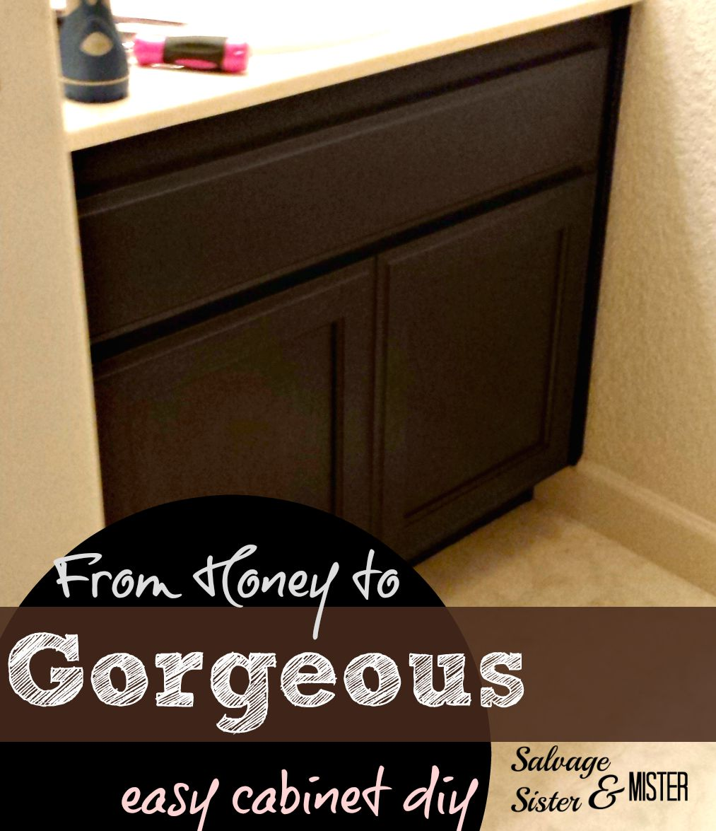 want to change up the honey cabinets easy stain diy