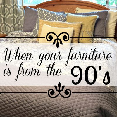 What to do when your furniture is from the 1990's. Knowing when to paint or not to paint. Counting the costs of time spent on home repairs and changes. www.salvagesisterandmister.com