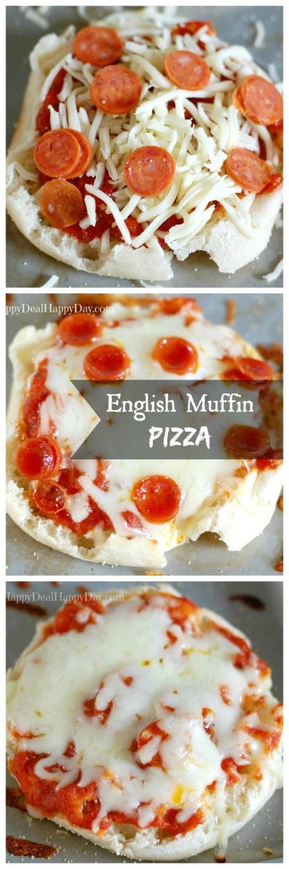 15 min dinner english muffin pizza