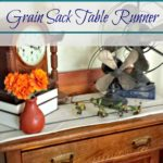 EASY or DONE. No matter if you like your project perfect or done, we got you covered. This EASY DIY grain sack table runner can be done either way. Made with drop cloth and a small supply list makes this project ready in no time. Perfect farmhouse decor. www.salvagesisterandmister.com