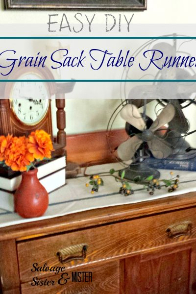 Perfect or Done DIY Grain Sack Table Runner