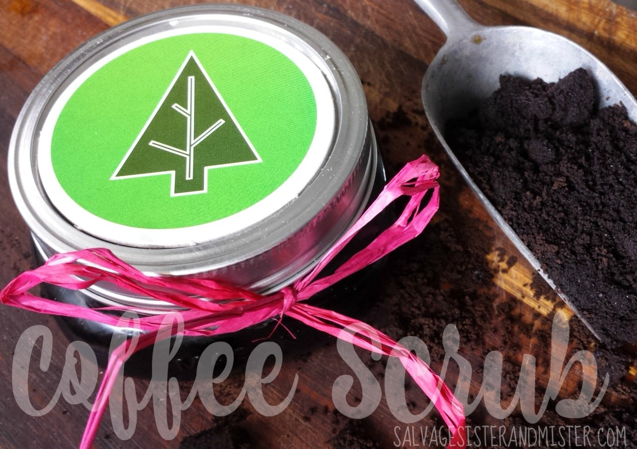 A great way to use up coffee grounds in this DIY coffee scrub. Easy to make. Great reuse. Perfect for gifts or for yourself. Spa treatment. Waste not want not.