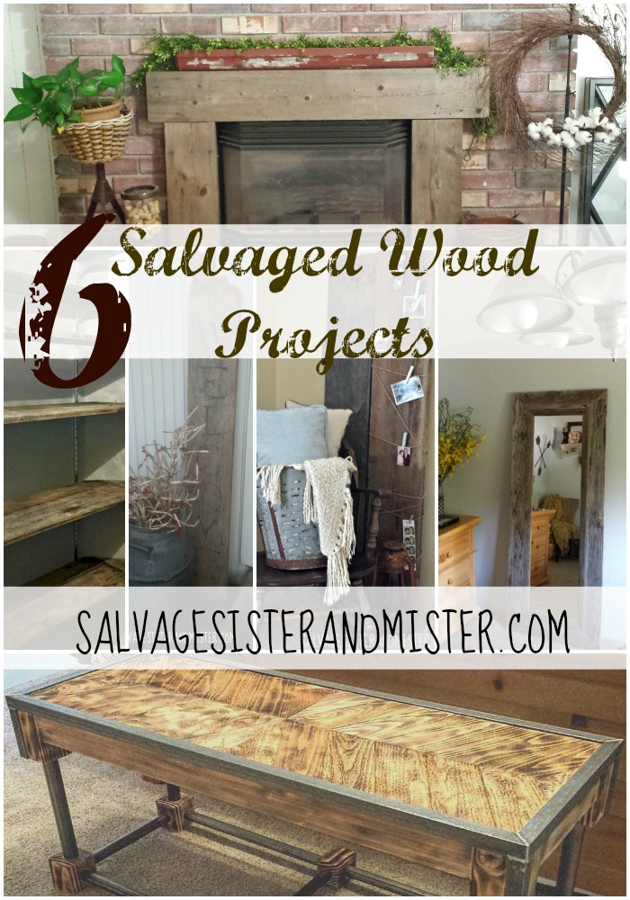 6 salvaged wood projects in home decor. Diy projects with salvaged wood. Plus, ideas on where to get salvaged wood in your area.