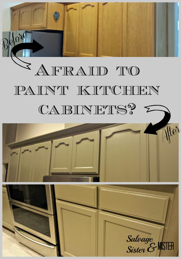 afraid to paint kitchen cabinets salvage sister and mister