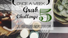 In 15 minutes a day once a week , you can start to simplify your life. The grab 5 challenge is a technique used to purge unwanted items from your home in a quick manner. Sometimes you don't have all day to sort an entire room. Great way to keep up on your New Years Reolution of organizing.