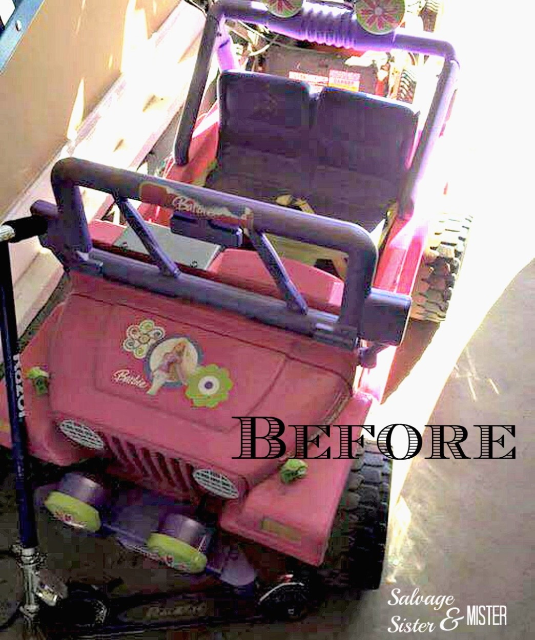 ride on jeep makeover before pic