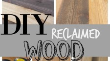 If you love reclaimed wood but don't have access to any inexpensive peices, here is a way you can make it yourself. This DIY reclaimed wood tutorial will show you exactly how to make it yourself.