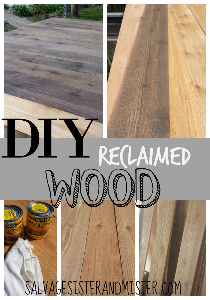 Diy Faux Reclaimed Wood Salvage Sister And Mister