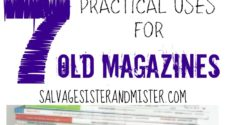 Who doesn't love a good magazine? After awhile they can add up to quite a stack. Sure some people make huge projects with them, but here are 7 practical uses for old magazines. Reduce, Reuse, and Recycle. Waste not, want not!