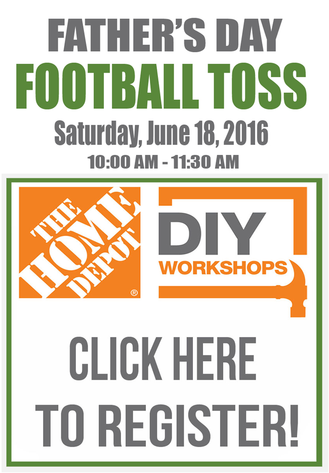 Football Toss - Registration Button