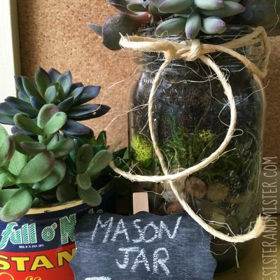Do you have a piece of string, mason jar, rocks, and some dirt around? How about adding some succulents to this and making a mason jar terrarium? This easy diy project is great for all ages. It's a perfect way to use what you have and upcycle it into something beautiful. Use it in your home or give it as a gift. Plus its super inexpensive and very easy to care for.