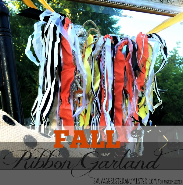 Do you have leftover ribbon? This DIy project is a great reuse for it ~ fall ribbon garland. It's super easy and can be made for any occassion. Plus, its a grea way to recycle or upcycle all those extra ribbons lying around.