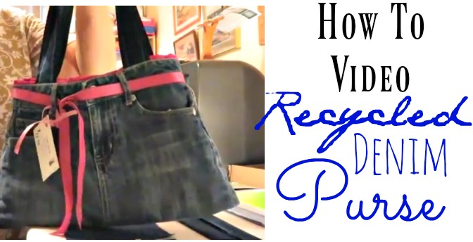 how to video on how to create a recycled denim skirt from a little girls skirt. This DIY is a great reuse. Get a step by step video on how to create this.