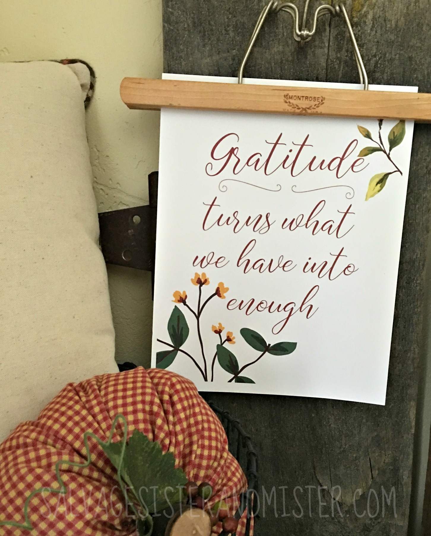 Fall is a wonderful time of year not only for it's beauty but it's time for refelcting on all that we are grateful for.  This quote is a great reminder that when we are grateful it turns what we have into enough.