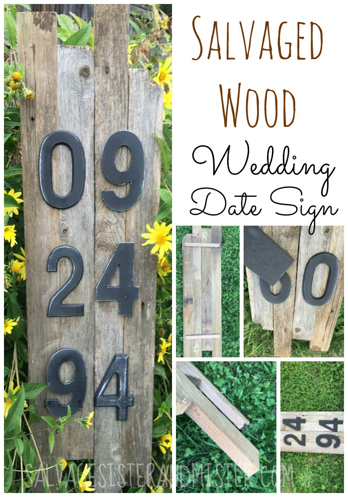 We found some scrap pieces of wood and made this wedding date anniversary sign. This diy project is simple and inexpesive to make. It is perfectly inperfect just like marriage.