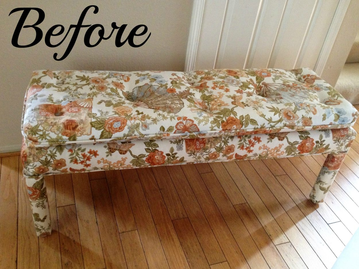 trash to treasure project that makes you rethink driving by that bench on the side of the road. Take a look at the after for a frech farmhouse inspired bench. This DIY bench is amazing.