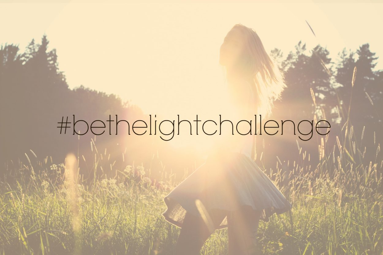 A week long challenge to encourage us to be God's light on social media. Follow 8 bloggers as we share our stories and encouragmenet to use our influence Matthew 5:16 In the same way, let your light shine before others, that they may see your good deeds and glorify your Father in heaven. Come take the #bethelightchallenge and be a beacon in a dark world.