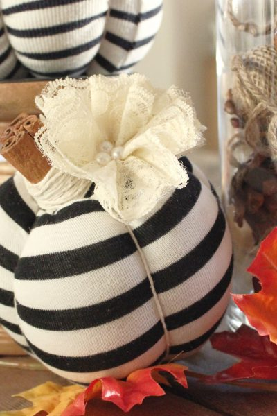 "No Sew ""Memory"" Pumpkins from Old Clothing"