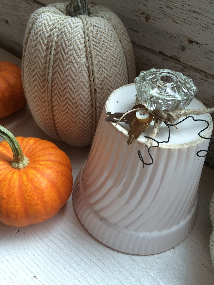 You can turn almost anything into a repurposed pumpkin. Many more examples of these vintage feel pumpkins. This diy is quite easy and makes for easy and budget friendly decor. You can decorate with fall using what you have.