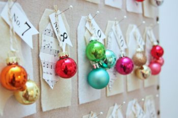 You can make this beautiful Christmas countdown while enjoying a holiday movie. This is a great craft project that can use up materials you have lying around the craft room. Also fun to do at a party for a craft activity. Make it using your colors and imagination. #ssmfeatureme