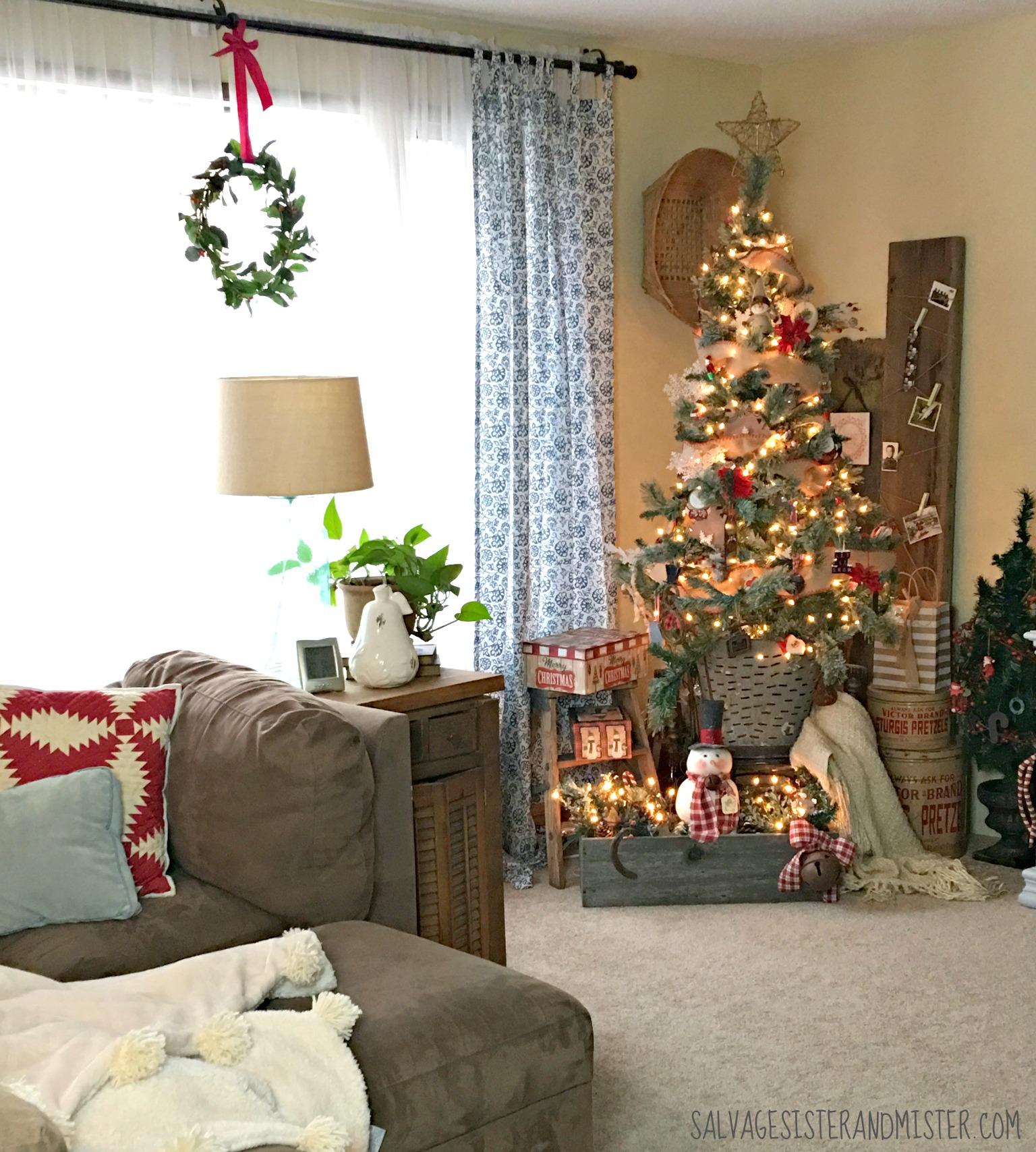 Salvaged Christmas Home Tour Living Room Salvage