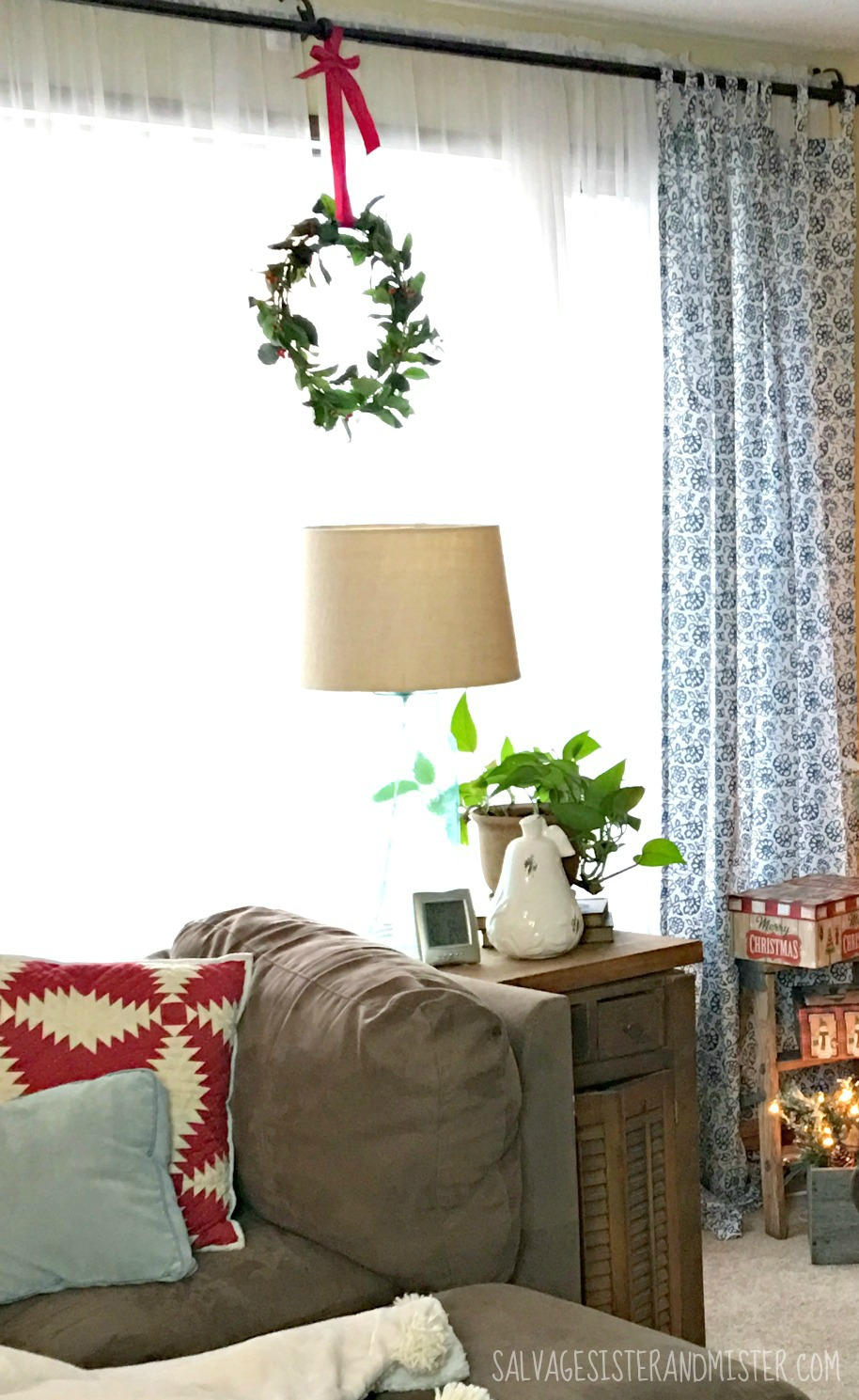 Salvaged Christmas Home Tour - Living Room - Salvage Sister and Mister