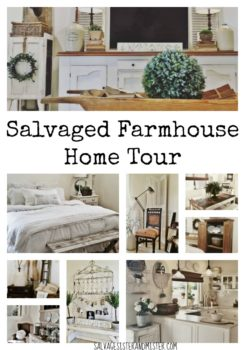 Love Fixer Upper and farmhouse style? you will love this home tour of Vintage Bliss. She shows an amazing eye for decorating as well as bargain decor. She uses lots of vintage, garage sale, flea market finds to create a visually beautiful space. Come take this home tour to be inspired. You can create a home and space you love with just a little inspiration and some junkin finds.