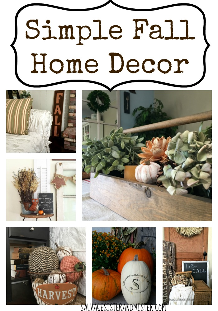 Want your home to be decorated for the fall but don't have a lot of time or money?  Or maybe you don't want ot store a bunch of stuff you only use once a year.  Here are some ideas to make use of what you have and have small simple touches of seasonal decor.  Go here for simple fall home decor tips and tricks.