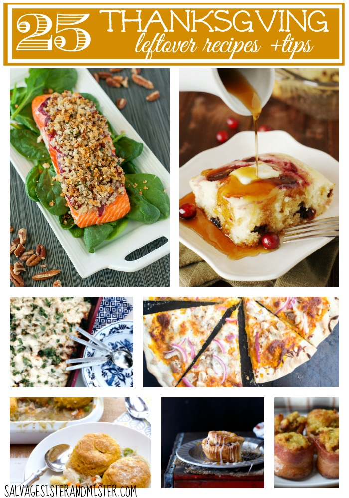 Don't want to eat the Thanksgiving meal over and over again? Tired of leftovers? Here are some amazing recipesto turn those leftovers into something spectacular. Eliminate food waste by knowing what you can freeze from that Tahnksgiving meal. Food tips and tricks. Cranberry salmon, pumpkin cinnamon rolls,turkey pizza and more. Waste not, want not.