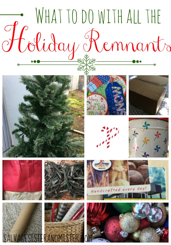 Do you have leftover wrapping paper, Christmas cards, wrapping tubes, gift cards, cookie tins, gift tags, ornaments, candy canes, trees (real or artifical), boxes, etc leftover? We are sharing an extenisve list on what to do with all your holiday remnants. Upcycle or reuse is not only a great way to keep that stuff out of the trash pile but it's budget friendly too.