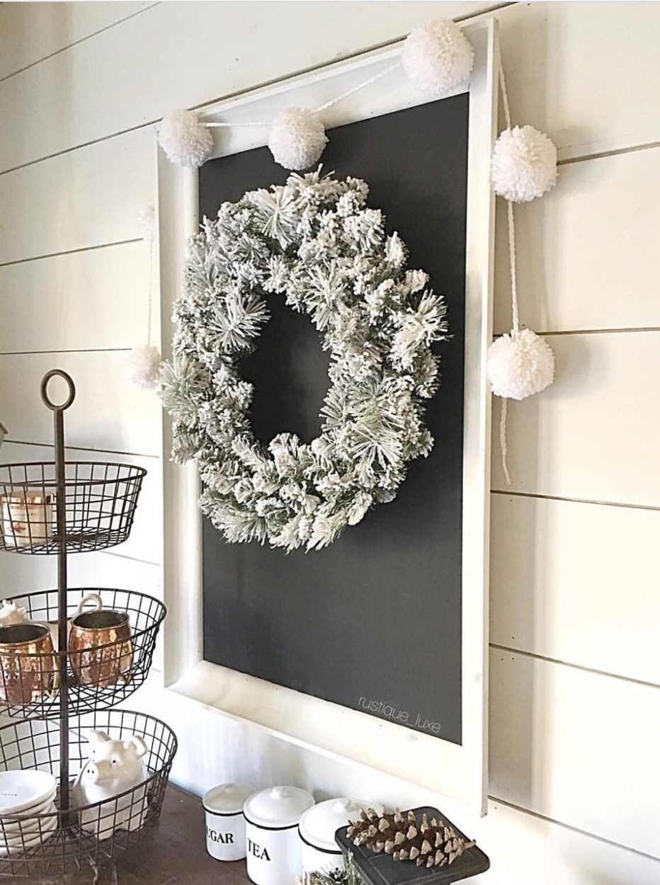 This DIY upcycled chalkboard is perfect farmhouse decor. Its a great statement piece for any home. You can customize it with this tutorial. A great way to reuse or recycle old materials.