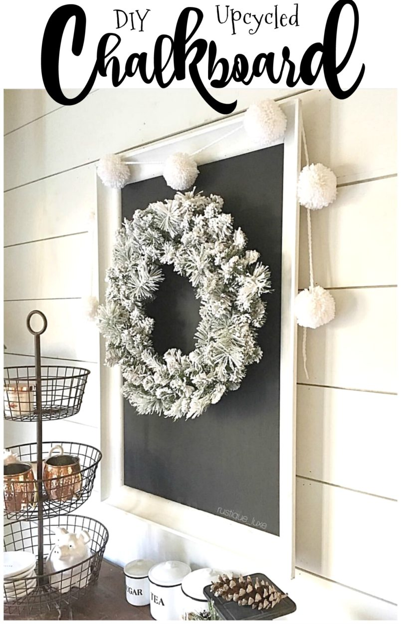Found an old frame at a thrift store? Use it to make your own chalkboard. It's a great way to reuse items and makes a great statement piece for any home decor. This is especially perfect for famrhouse decor. This DIY project is inexpensive to make. Easy on any budget. You don't need a lot of tools or skill to make.