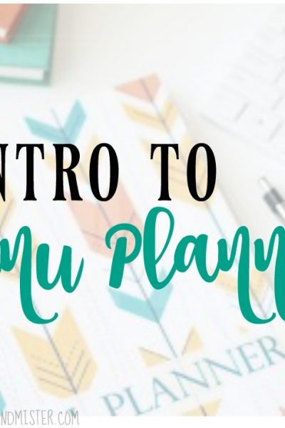 Intro to Menu Planning