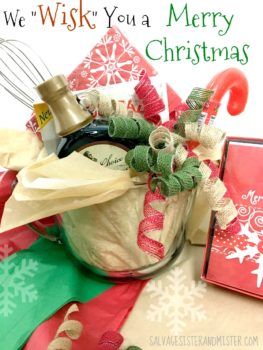 We Wiisk you a merry christmas neighbor breakfast gift. The gift basket can be made simply with items fround at your local Big Lots. #ad https://www.pinterest.com/biglots/ #biglotsholiday