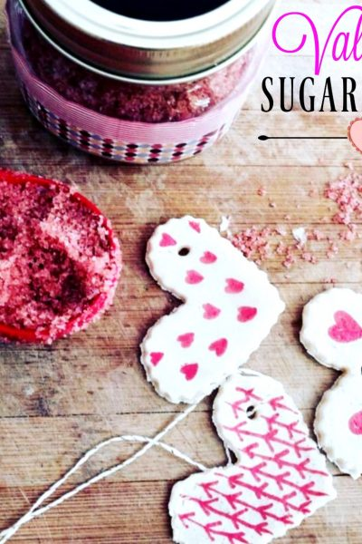 Valentine Sugar Scrub with Salt Dough Tags