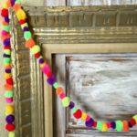 Colorful Craft Pom Pom Garland