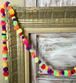 craft pom pom garland IMAGE